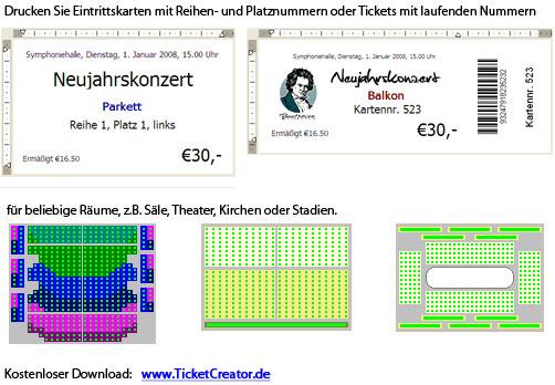 45 TicketCreator   Eintrittskarten drucken